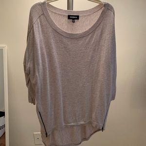 Express Beige Knit Top Size M